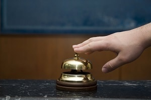 Hotel service bell