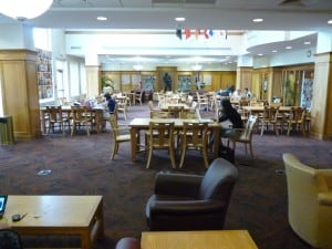 Marcus Commons--a great place to study, relax, or complete group work.