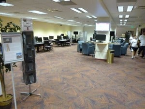 The computer room.