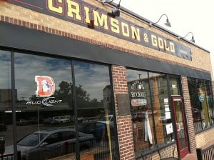 Crimson & Gold (All-American pub food).