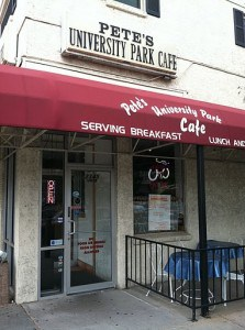 Pete's University Park Cafe (Greek diner).