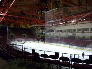 Magness Arena—home to DU's famous hockey team (and a great place to run stairs!).